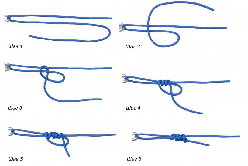 Схема вязания узла Петля Дункана