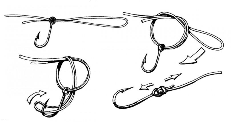 Схема вязания узла паломар