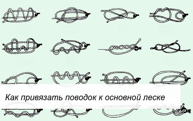 Как правильно привязать поводок к основной леске: узлы и способы ...